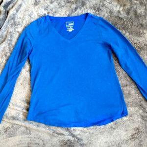 Sonoma long sleeve tee Vneck medium blue